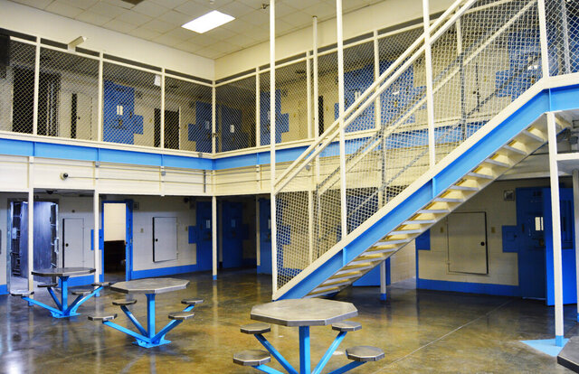 FILE - This undated file photo provided on July 11, 2019, by the South Carolina Department of Corrections shows the new death row at Broad River Correctional Institution in Columbia, S.C. Some lawmakers in South Carolina are pushing a bill that would give death row inmates no choice but to be executed in the electric chair. Opponents of the bill in the House Judiciary Committee on Tuesday, March 3, 2020, say the electric chair is barbaric and changing the method after a prisoner is sent to death row could open the state up to lawsuits. (South Carolina Department of Corrections via AP, File)