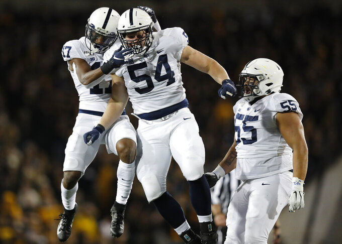 No. 10 Penn State holds off No. 17 Iowa 17-12