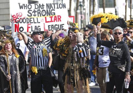 Super Bowl Protest New Orleans