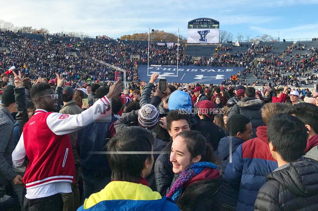 Harvard Yale Protest Football