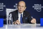 El secretario de Comercio de Estados Unidos, Wilbur Louis Ross, durante una conferencia de prensa en el Foro Económico Mundial en Davos, Suiza, el miércoles 22 de junio de 2020. (Alessandro della Valle/Keystone via AP)