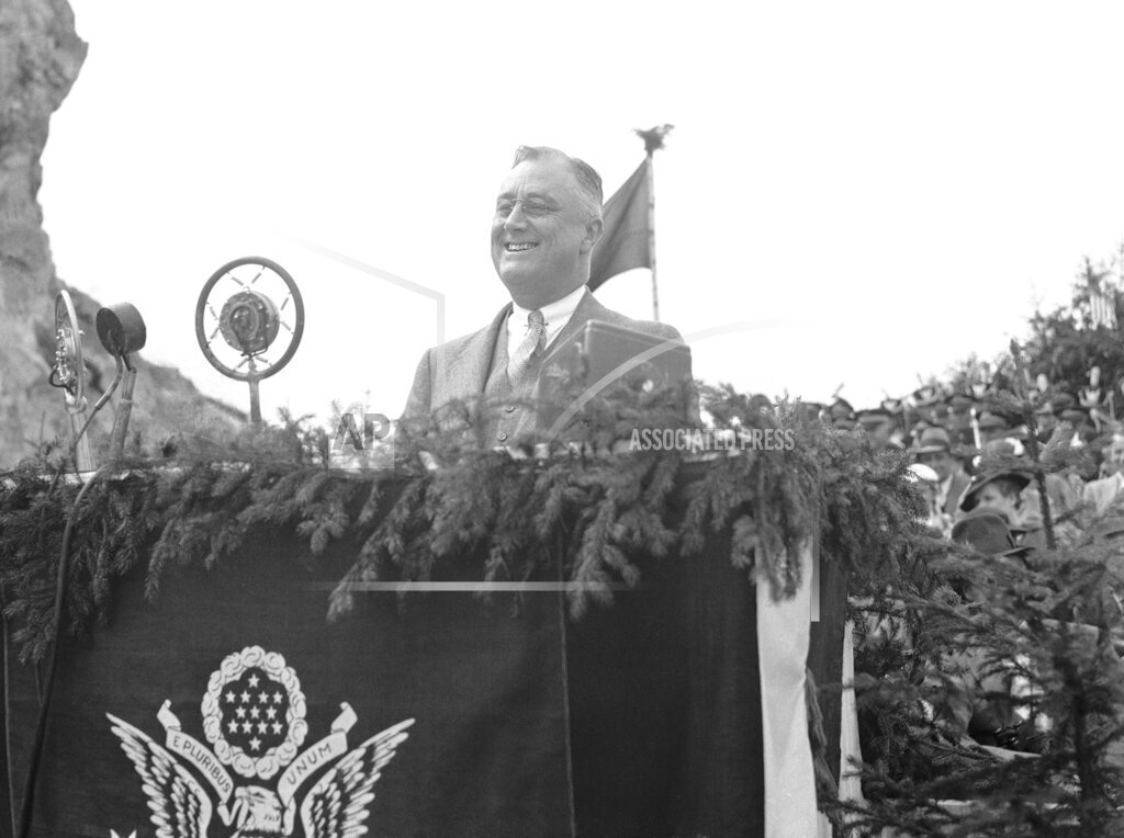 Watchf AP A  NY USA APHS250273 President Franklin  Roosevelt   Speaking