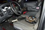 In this image provided by the U.S. Capitol Police, the interior of a vehicle owned by Donald Craighead of Oceanside, Calif., is shown after U.S. Capitol Police arrested him early Sept. 13, 2021, in Washington, when they found multiple knives in his truck near the Democratic National Committee headquarters. The truck did not have a license plate. Instead, a picture of an American flag was placed where the license plate should have been. The officer pulled over the truck along the 500 block of South Capitol Street, SW. (U.S. Capitol Police via AP)