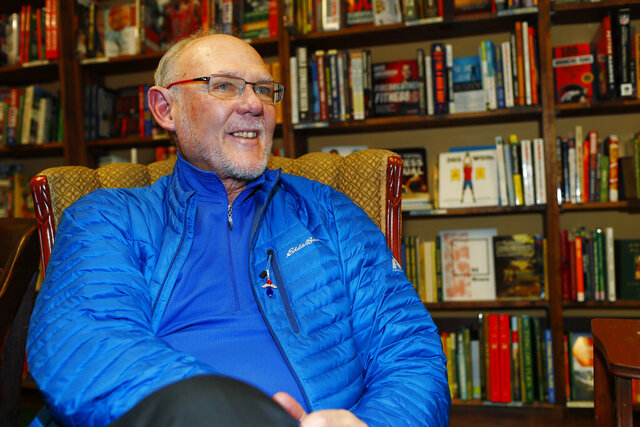 FILE - In this Jan. 18, 2017, file photo, former NBA head coach George Karl talks about his new book,