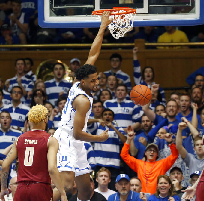 Reddish scores 24, No. 2 Duke pulls away to beat BC 80-55