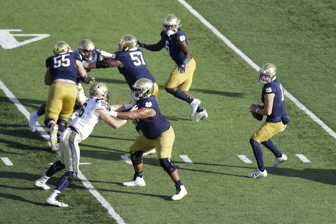 No. 15 Irish expect physical test from run-happy Eagles