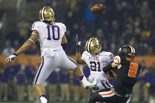 Oregon State Beavers against the Washington Huskies