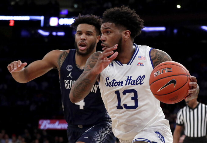 Powell goes off in 1st half, Seton Hall beats G'Town 73-57
