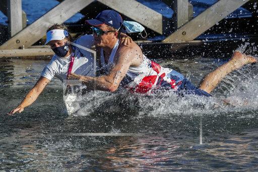 APTOPIX Tokyo Olympics Sailing