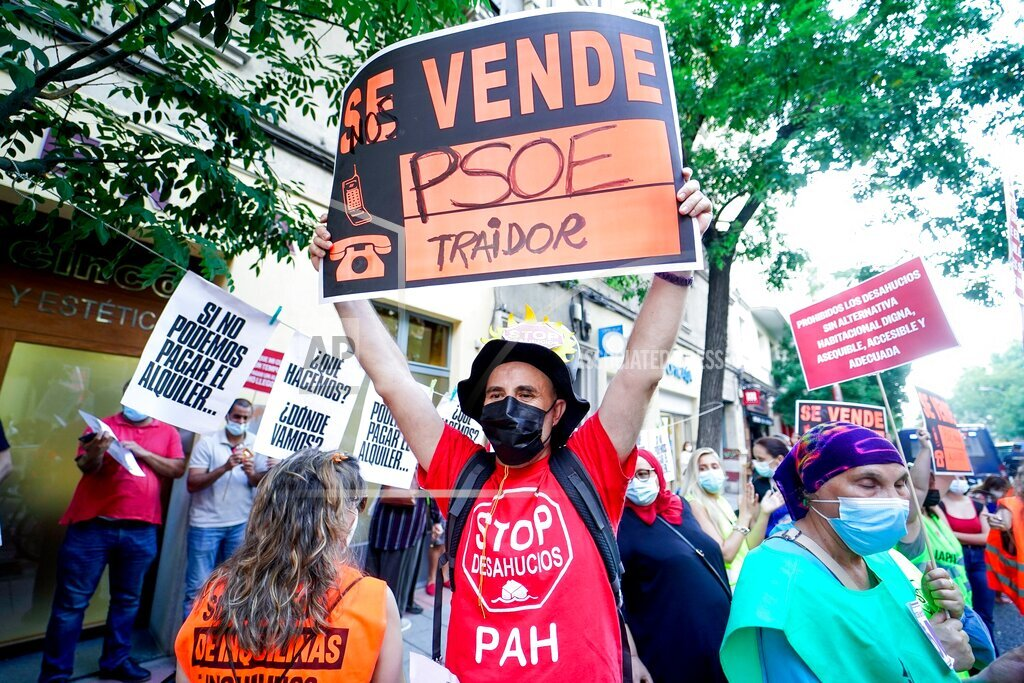 Rally in Madrid to defend the regulation of rental prices