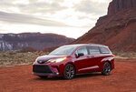 This photo provided by Toyota shows the 2021 Toyota Sienna Limited AWD. Truck and SUV sales are hotter than ever. If you need a mode of transportation for a growing family, what would be best for you — a truck, SUV or maybe a minivan? (Toyota via AP)