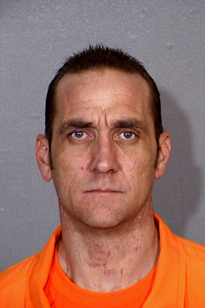 In this undated photo released by the Arizona Department is Joshua J. Speedling. The Arizona Department of Corrections says Speedling, a minimum-custody inmate, walked away from an off-site work crew in Casa Grande. The department said Thursday, Nov. 7, 2019, that Joshua J. Speedling walked away from the crew at 8 p.m. Wednesday and that state and local law enforcement agencies were notified at that time. (Arizona Department of Corrections via AP)