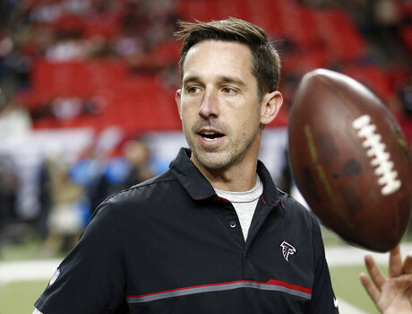 Falcons Shanahan Interviews Football