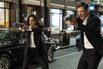 This image released by Sony Pictures shows Tessa Thompson and Chris Hemsworth in a scene from Columbia Pictures'