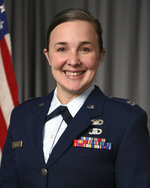 This undated photo provided by the Tennessee Air National Guard shows Capt. Jessica Wright. Three people killed in a small plane crash near a Tennessee airport were Air National Guard members, officials said Wednesday, Sept. 9, 2020. Killed in the crash were Lt. Col. Shelli Huether, Capt. Jessica Wright, and Senior Master Sgt. Scott Bumpus, the guard said in a news release. (Tennessee Air National Guard via AP)