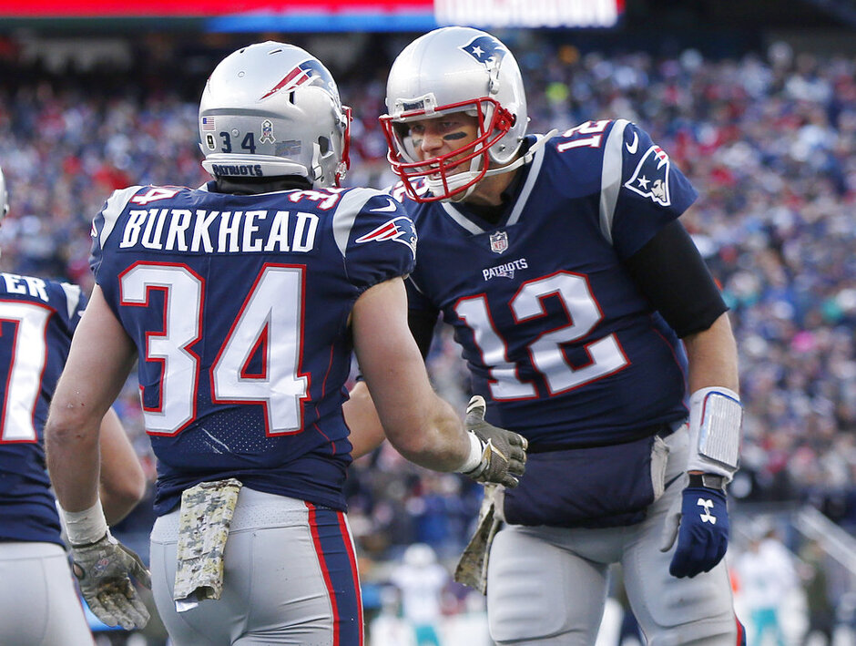 Tom Brady, Rex Burkhead