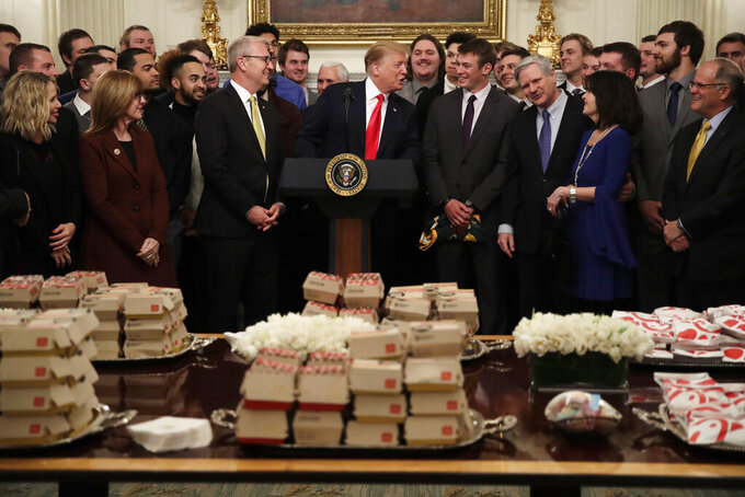 Fast food at White House for North Dakota football champs