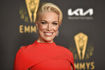 Hannah Waddingham arrives at the 73rd Emmy Awards Performers Nominee Celebration on Friday, Sept. 17, 2021, at the Academy of Television Arts & Sciences in Los Angeles. (Photo by Richard Shotwell/Invision/AP)