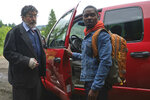 """This image released by RLJE films shows Alfred Molina, left, and David Oyelowo in a scene from """"The Water Man,"""" a film directed by David Oyelowo. (Karen Ballard/RLJE films via AP)"""