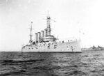 FILE - In this Jan. 28, 1915, file photo, made available by the U.S. Naval History and Heritage Command shows the USS San Diego while serving as flagship of the Pacific Fleet. Asian Americans, veterans and civilians in the U.S. and the Philippines are campaigning to name a Navy warship for a Filipino sailor on the USS San Diego who bravely rescued two crew members when their ship caught fire more than century ago, earning him a prestigious and rare Medal of Honor. (U.S. Naval History and Heritage Command via AP, File)