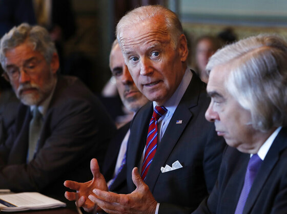 Joe Biden, Ernest Moniz, John Holdren, Greg Simob