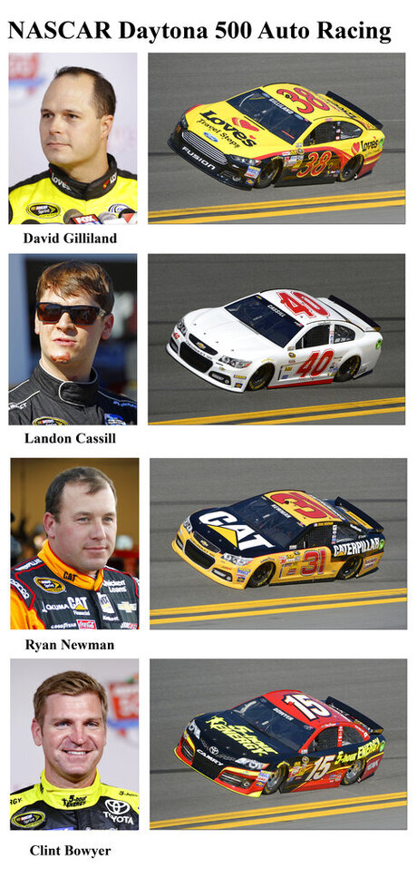 David Gilliland, Landon Cassill, Ryan Newman, Clint Bowyer