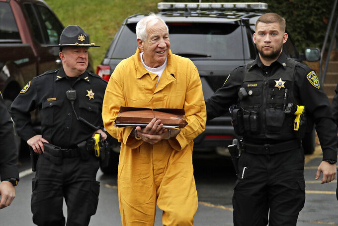 The Latest: Sandusky resentenced to same prison term