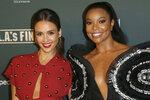 Jessica Alba, left, and Gabrielle Union arrive at the LA Premiere of