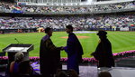 Prime Minister Justin Trudeau receives an honorary degree prior to delivering the commencement address to New York University graduates at Yankee Stadium in New York on Wednesday, May 16, 2018. (Sean Kilpatrick/The Canadian Press via AP)