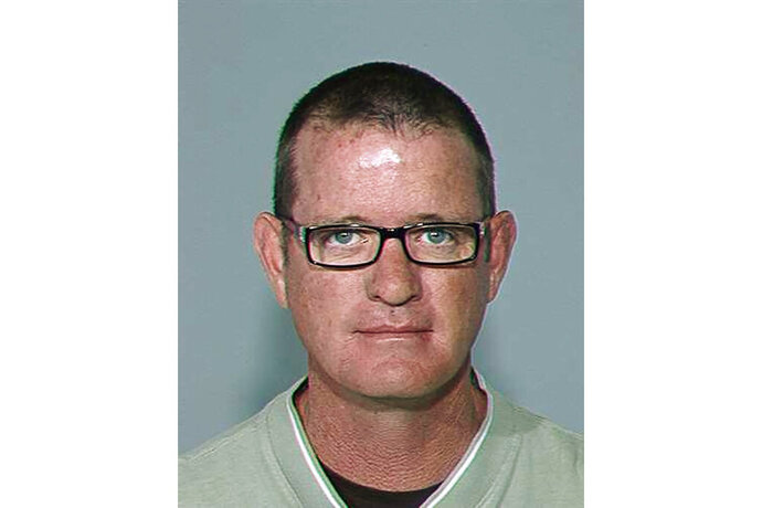 FILE - This undated photo provided by the Maricopa County Sheriff's Office shows Stephen Gore, the owner of a now-closed Phoenix body donation facility who in 2015 pleaded guilty to a felony charge for his role in mishandling donations of human remains. Lawyers are scheduled to make opening statements Monday, Oct. 28, 2019, at a civil trial against Gore's company for allegedly mishandling donated bodies. (Maricopa County Sheriff's Office via AP, File)