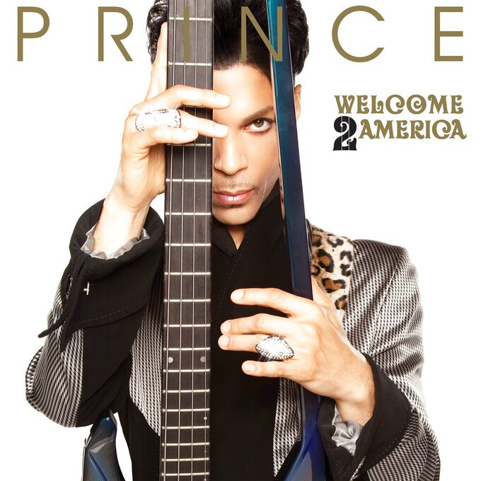 """This image released by Sony Music Entertainment shows """"Welcome 2 America"""" by Prince. (Sony Music Entertainment via AP)"""