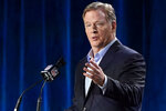 FILE - In this Jan. 29, 2020, file photo, NFL Commissioner Roger Goodell answers a question during a news conference for the NFL Super Bowl 54 football game in Miami. The NFL and the NFLPA haven't come to an agreement on all protocols for training camp and the preseason as the report date for teams draws closer. (AP Photo/David J. Phillip, File)