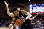 Gonzaga forward Rui Hachimura drives to the basket during the first half of an NCAA college basketball game against San Diego, Saturday, Feb. 16, 2019, in San Diego. (AP Photo/Gregory Bull)