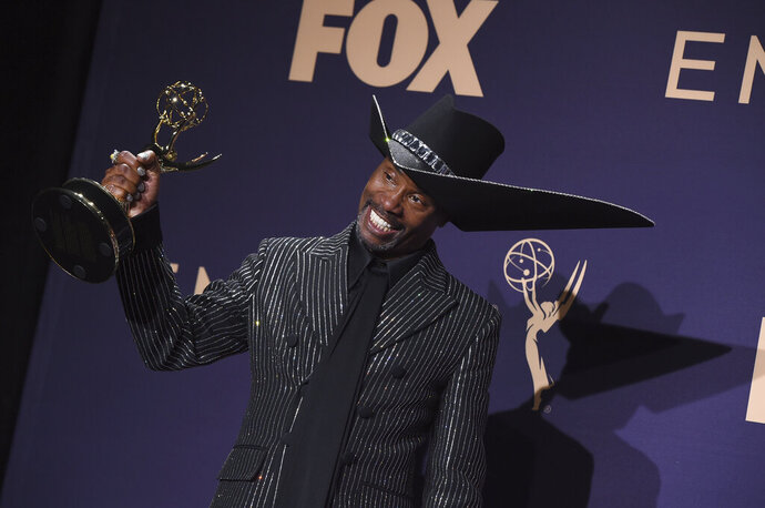 Billy Porter, winner of the award for outstanding lead actor in a drama series for
