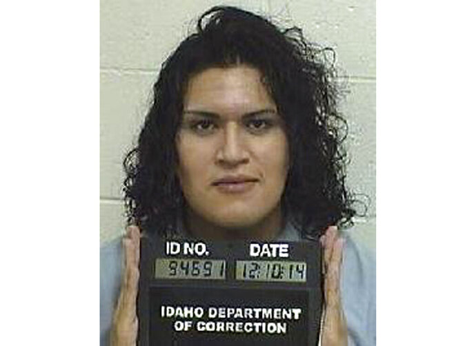 In this Dec. 10, 2014, photo provided by the Idaho Department of Correction is Adree Edmo. A federal appellate court hears arguments Thursday, May 16, 2019, in a lawsuit brought by Adree Edmo, a transgender Idaho inmate, who says the state is wrongly denying her gender confirmation surgery. (Idaho Department of Correction via AP)