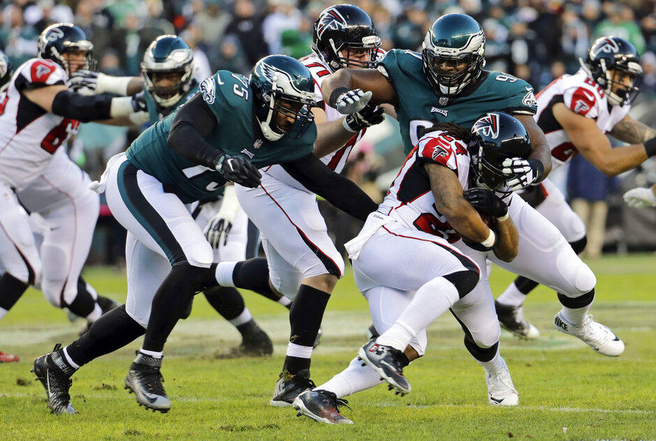 Fletcher Cox, Vinny Curry, Devonta Freeman