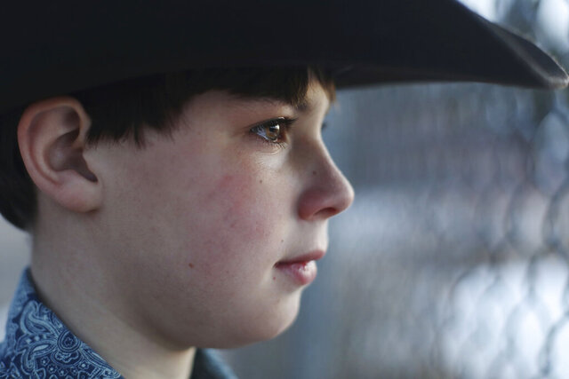 In this Dec. 18, 2019 photo, Boone Donley, 9, poses for a portrait in Casper, Wyo. Donley created the program