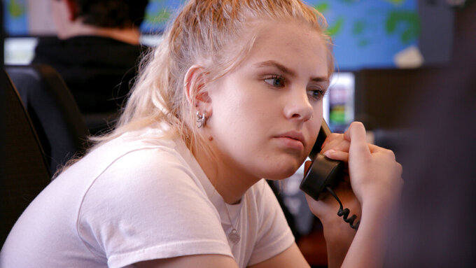 """This image released by MTV shows documentary film subject Emma in a scene from """"Each and Every Day,"""" about young people and suicide. (MTV via AP)"""