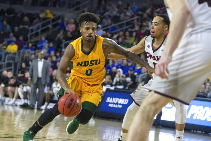 Shahid leads NDSU past Omaha 73-63 in Summit League final