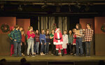 This 2018 photo provided by the Little Theatre off Broadway shows a live performance for the theater's 2018 holiday show. For many, community plays are a holiday tradition. (Jerri Shafer/Little Theatre off Broadway via AP)