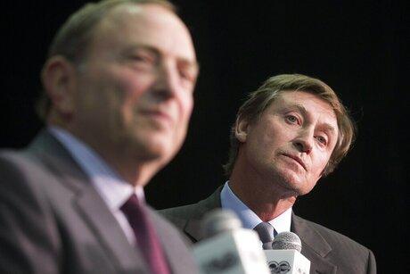 Wayne Gretzky;  Gary Bettman