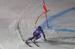 Slovakia's Petra Vlhova speeds down the course on her way to win the women's giant slalom, at the alpine ski World Championships in Are, Sweden, Thursday, Feb. 14, 2019. (AP Photo/Marco Trovati)