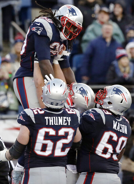 LeGarrette Blount, Joe Thuney, Shaq Mason