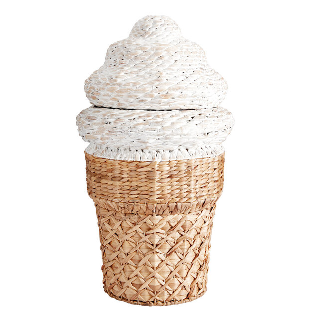 This undated photo shows Pottery Barn Teen's Ice Cream Cone Hamper. Pottery Barn Teen makes tidying up a pleasant job with this 30