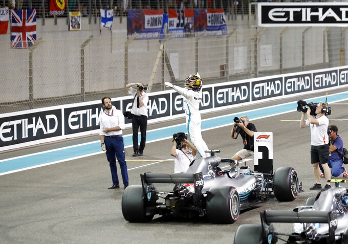 Hamilton clinches pole for season-ending Abu Dhabi GP