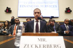 Facebook CEO Mark Zuckerberg arrives to testify before a House Financial Services Committee hearing on Capitol Hill in Washington, Wednesday, Oct. 23, 2019, on Facebook's impact on the financial services and housing sectors. (AP Photo/Andrew Harnik)