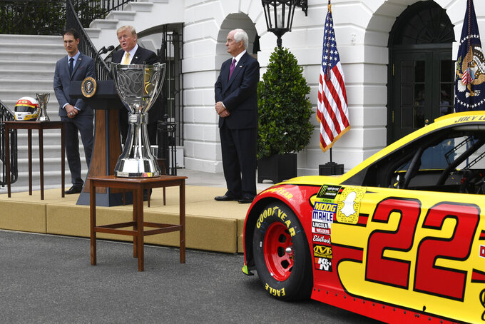 Trump welcomes NASCAR champ to White House