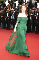 Actress Julianne Moore poses for photographers upon arrival at the opening ceremony and the premiere of the film 'The Dead Don't Die' at the 72nd international film festival, Cannes, southern France, Tuesday, May 14, 2019. (Photo by Joel C Ryan/Invision/AP)