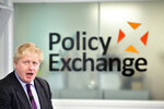 Britain's Foreign Secretary Boris Johnson delivers a speech at the Policy Exchange in London, Wednesday Feb. 14, 2018. The Foreign Office says Johnson will use a speech Wednesday to argue for