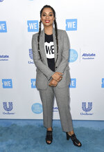 """FILE - In this April 19, 2018 file photo, Lilly Singh arrives at WE Day California at The Forum in Inglewood, Calif. NBC is shaking up late-night TV, giving Carson Daly's slot to a woman of color who's a star on YouTube. The network said Thursday, March 14, 2019, that a new show, titled """"A Little Late with Lilly Singh,"""" will air at 1:35 a.m. EDT beginning in September. (Photo by Richard Shotwell/Invision/AP, File)"""
